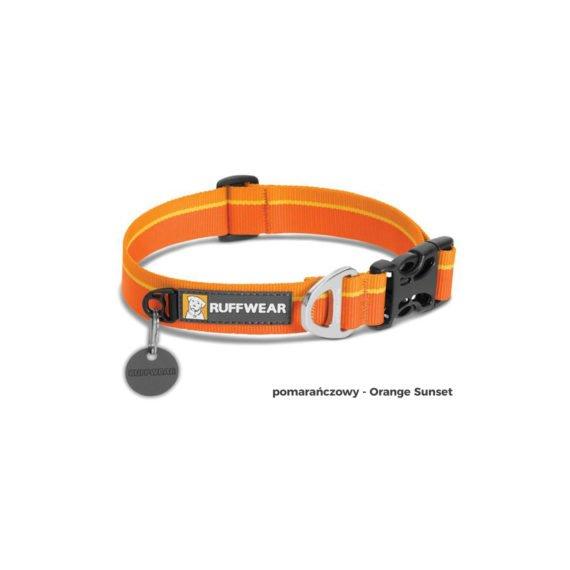 Obroza-HoopieCollar-Orange-Sunset