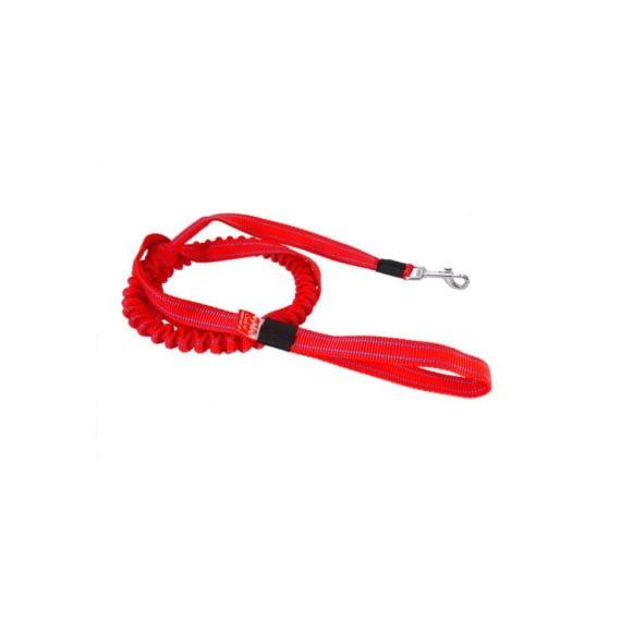 Smycz-z-amortyzatorem-dla-malych-psow-do-9kg-czerwony-niebieskie-paski2